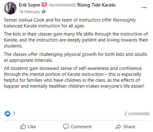 K2, Rising Tide Karate